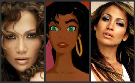 I couldn't decide what pic looked better so I used both. Jennifer Lopez.
