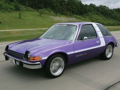 Spike would drive a '76 AMC Pacer. What would the Diamond chó have?