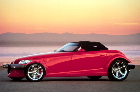 He'd drive a '99 Plymouth Prowler. What would Flam have?