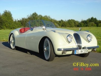 Rarity would drive a 1958 Jaguar XK 150. What would Bon Voyage have?