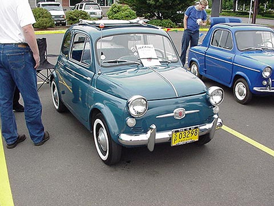 Bon Voyage would drive a 1966 Fiat 500. What would pelangi, rainbow Dash have?