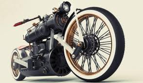Surprise would drive a motorcycle that looks like a train. What would Pinkie Pie have?