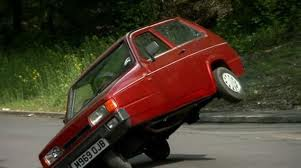 Dan would drive a 1994 Reliant Robin. What would Robin capuz, capa (My OC) have?