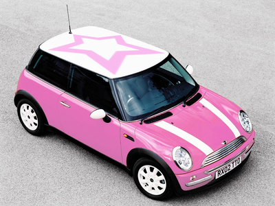Diamond Tiara would drive a rosa, -de-rosa Mini Cooper. What would Minty drive?