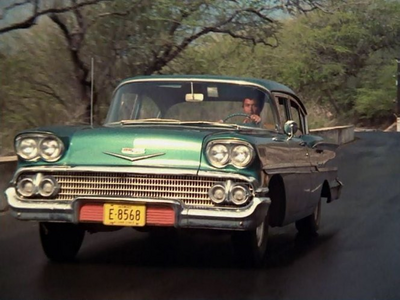Lightning Dust would drive a 1958 Chevrolet Biscayne. What would Spitfire have?