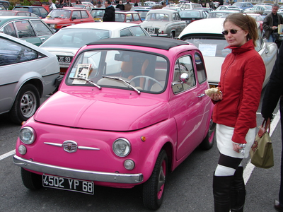 Pinkie Pie would drive this Fiat 500, only because it's pink. What would Rarity have?