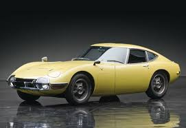 Mrs. Cake would drive a 1967 Toyota 2000GT. What would Mr. Cake have?
