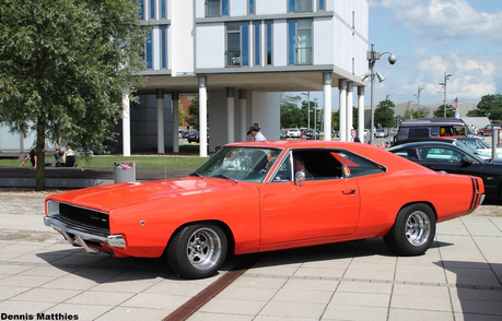 Curly Cobb would drive a 1968 Dodge Charger. What would Faraday have?
