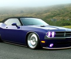 Princess Twilight Sparkle would drive a バイオレット Dodge Challenger. What would Donut Joe drive?