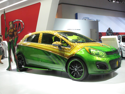 Spike would drive a Kia Marvel Edition. Roseluck's car would be? :)