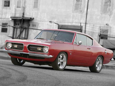 Pinkie would drive a 1968 Plymouth Barracuda. What would her dad, Clyde have?