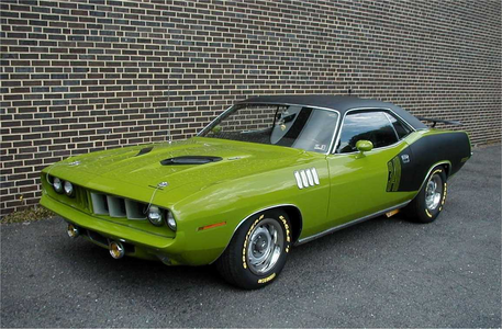 Lyra would drive a 1971 Plymouth Barracuda. What would Goldie Delicious have?