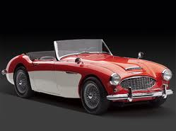 Thunderlane would drive a 1964 Austin Healey 3000. What would Coco Pommel have?