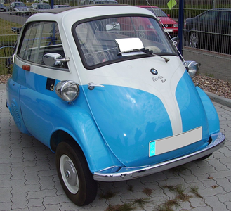 Discord would drive a 1952 BMW Isetta, just cos he would look so hilarious in such a small car. What