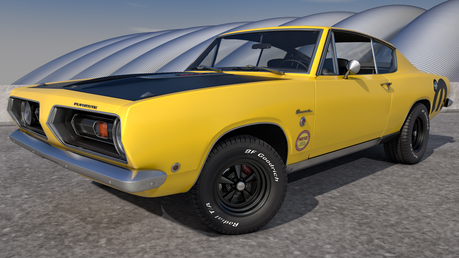 Gilda would drive a 1968 Plymouth Barracuda. What would Lightning Dust have?