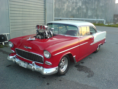 Sunset Shimmer would drive this 1955 Chevrolet Bel Air. What would Aria Blaze have?