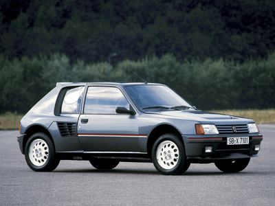 Blossomforth would drive a 1984 peugeot 205 T16. What would Flitter have?
