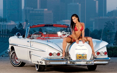 Scootaloo would drive a 1958 Chevrolet Impala, just as soon as the girl gets off the spare tire. What