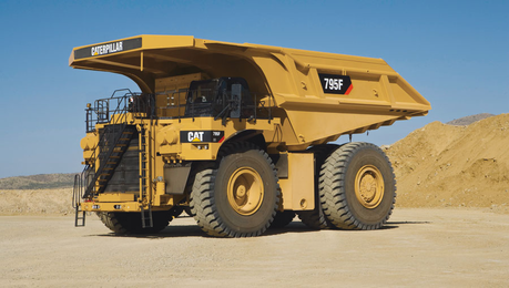 Tom would drive a 2009 ulat, caterpillar 795F Mining Truck. What would Boulder have?