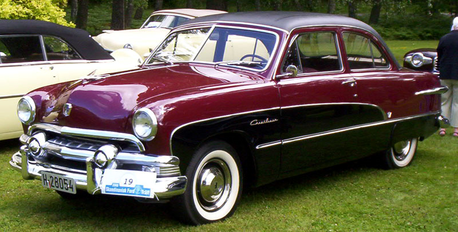Mr. Cake would drive a 1951 Ford. What would Mrs. Cake have?