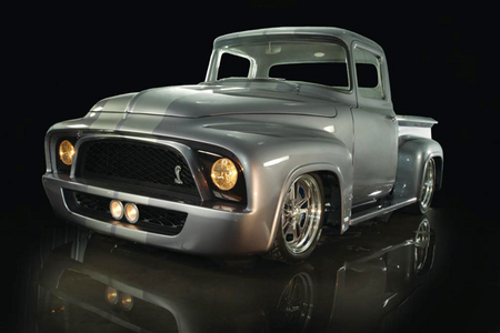 Colgate would drive a 1956 Ford FR100, with a custom grille from a brand new Mustang. What would Harr