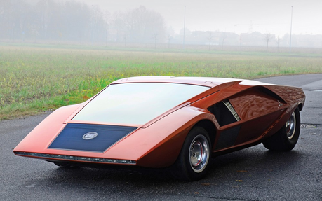 Metal Gloss would drive a 1970 Lancia Stratos Zero. What would Jade's OC Tsura Sly have?