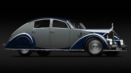 Opalescence would drive a 1934 Voisin C-25 Areodyne. What would Rarity's dad have? I think his name i