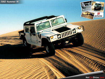 Chief Thunderhooves would drive a 2002 Hummer H1. What would Uncle laranja have?