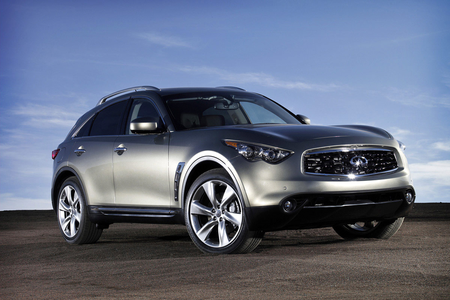 Button's Mom would drive a 2014 Infiniti FX. What would Rumble have?