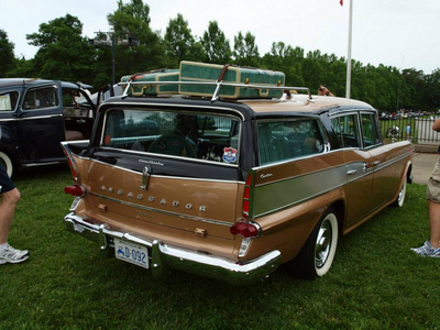 Ms. Peachbottom would drive a 1958 Rambler Ambassador Station Wagon. What would Braeburn have?