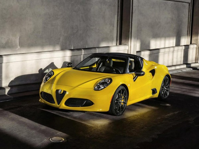 Cadence would drive a 2015 Alfa Romeo 4C Spyder. What would Celestia have?