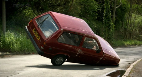 Discord would drive a 1994 Reliant Robin. What would King Sombra have?
