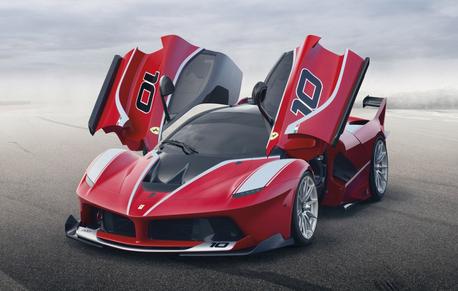 무지개, 레인 보우 would drive a 2015 Ferrari Laferrari FXX which is the race car version of the original. What