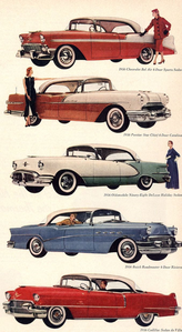 Vinyl Scratch would have a 1956 Chevrolet Bel Air, and all of the other cars in this picture. What wo