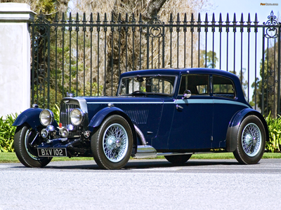 Luna would drive a 1934 Aston Martin Mk II. What would caramel have?