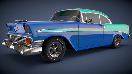 Trouble Shoes would have a 1956 Chevrolet Bel Air. What would Double Diamond have? BTW: Did anda ge