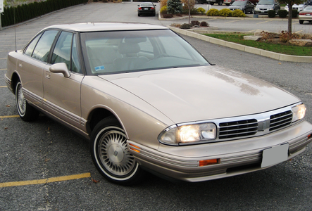 Mrs. Cake would drive a 1998 Oldsmobile Regency. What would Mr. Cake have?