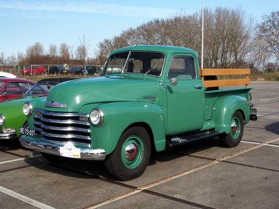 Nikki West would drive a 1950 Chevrolet 3100 pick up. What would Master Sword have?
