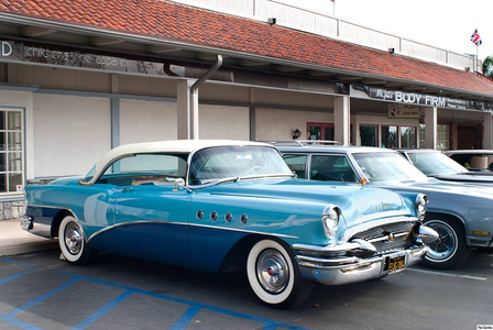 Colgate would drive a 1955 Buick Roadmaster. What would Lyra have?