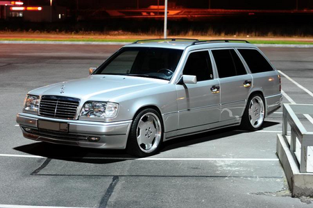 Mr. Cake would drive a 1993 Mercedes W124 Touring. What would Mrs. Cake have?