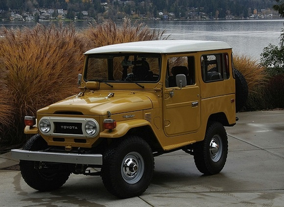 облако Chaser would drive a Toyota Land крейсер FJ40. What would Spitfire drive?