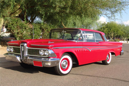 appel, apple Strudel would drive a 1959 Edsel Ranger. What would Mane-Iac drive?