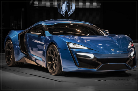 虹 Dash would drive a 2014 Lykan Hypersport. What would Spitfire have?