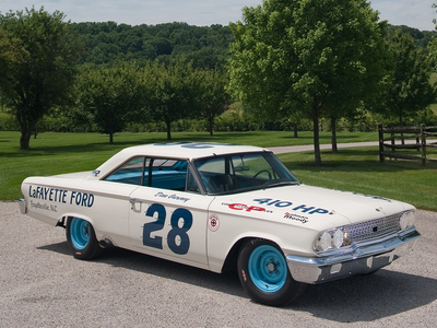 Party Favor would drive a 1963 Ford race car. What would Rover have?