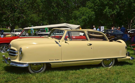 Cheerilee would drive a 1950 Nash Rambler Landau Coupé. What would Roseluck have?