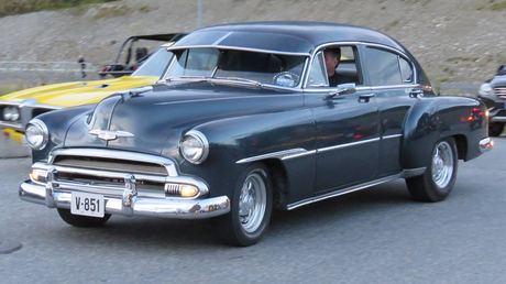 Mrs. Cake would drive a 1951 Chevrolet Fleetline DeLuxe. What would Mr. Cake have?