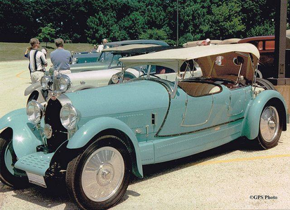 Filthy Rich would drive a 1927 Bugatti T44 Sport Touring. What would Spoiled Rich have?
