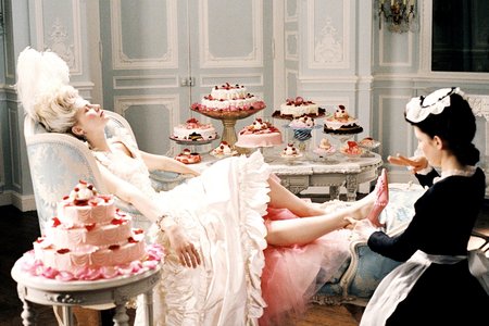 I'll start the round with Kirsten Dunst as Marie Antoinette in the movie by Sofia Coppola She played
