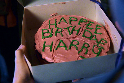 Hagrid's cake for Harry Potter (the Philosopher's Stone)