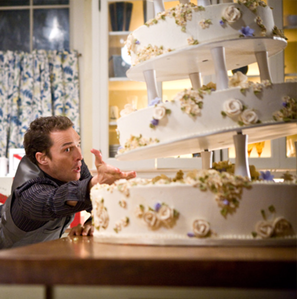Girlfriends of Ghost Past, Connor Mead (Matthew McConaughey) trying to save the cake